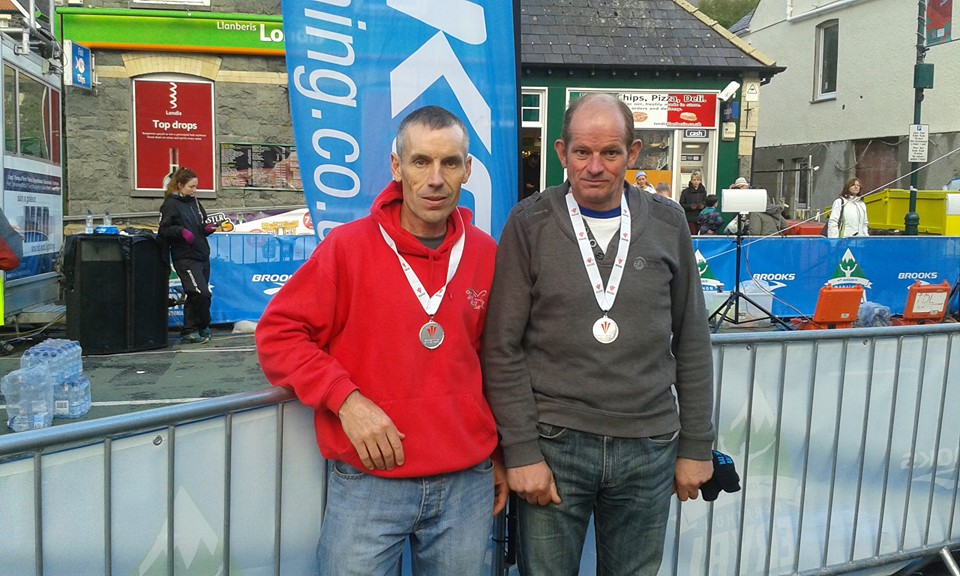 Glyn Price and Tony Hall with silver medals